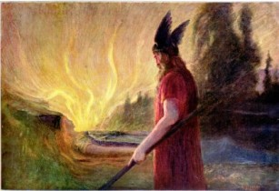 HENRICHHerman-as-the-flames-rise-odin-leaves-1909